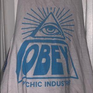 OBEY mock neck tank-